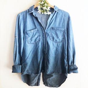 Cloth & Stone Ombré Button Down Chambray Shirt